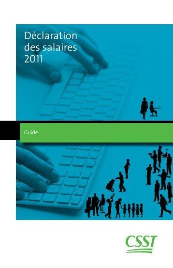 Déclaration des salaires 2011 - CSST