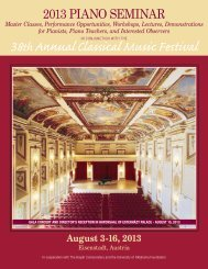 August 3-16, 2013 - Classical Music Festival - University of Oklahoma