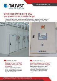 Essiccatoi statici serie EAC per pasta corta e pasta lunga - Italpast