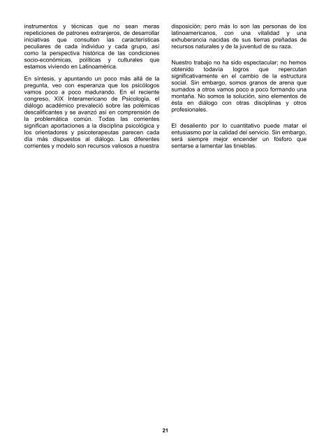 la psicología humanista en america latina - Universidad del Norte