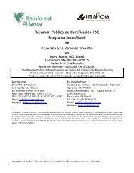 Resumen Público de Certificación FSC Programa SmartWood de ...