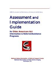 Assessment and Implementation Guide for Older Americans Act ...