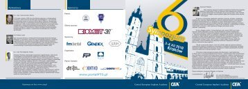 Central European Implant Academy Central European ... - CEIA