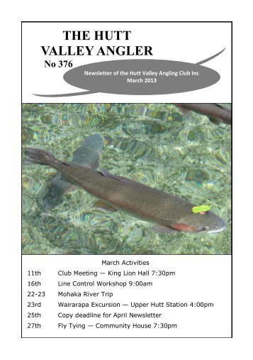 HVAV Newsletter March 2013 - Christchurch Fishing and Casting Club