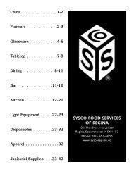 SYSCO FOOD SERVICES OF REGINA - Sysco Canada