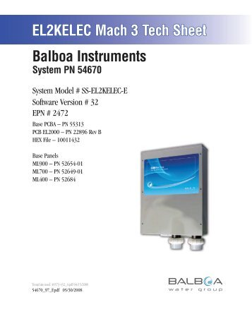 54670, ss-el2kelec-e - Balboa Direct