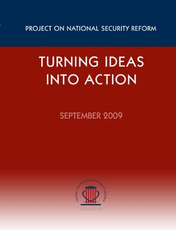 Project on National Security Reform - Policy Science