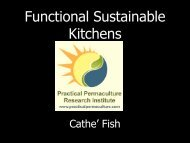 Functional Sustainable Kitchens - Permaculture Research Institute