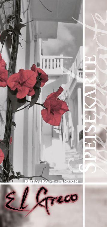 El Greco Speisekarte - Stand 11/2012