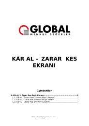 1. Kâr Al / Zarar Kes Emir Ekranı - Global Menkul Değerler