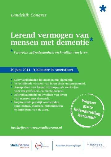 Lerend vermogen van mensen met dementie - StudieArena
