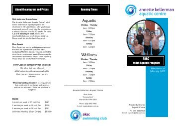 Aquatic Wellness - Annette Kellerman Aquatic Centre