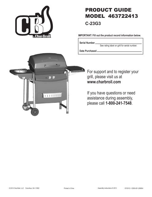 463722413 English Char Broil Grills