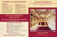 August 2-13, 2012 - Classical Music Festival - University of Oklahoma
