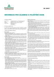 informace IO/2007 Vo-700 - Kooperativa, pojišťovna, a.s.