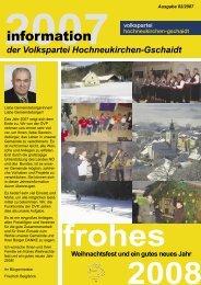 2007 - Volkspartei Hochneukirchen-Gschaidt
