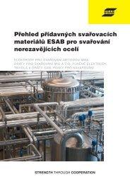 Přehled přídavných svařovacích materiálů ESAB pro ... - Products