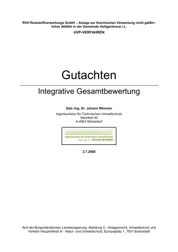 UVP-Gutachten - Die Grünen – Burgenland