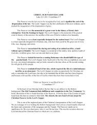 The Sacraments: Christ Our Passover Lamb - Vital Christianity