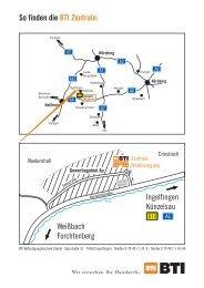 So finden die BTI Zentrale: Weißbach Forchtenberg Ingelfingen ...
