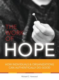 HOW INDIVIDUALS & ORGANIZATIONS CAN ... - The Work of Hope