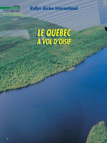 LE QUEBEC LE QUEBEC - Magazine Sports et Loisirs