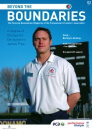Physiotherapy - The Professional Cricketers' Association