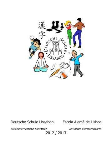 At. Extracurriculares 2012/13 - Deutsche Schule Lissabon