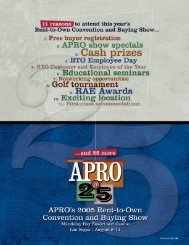 The 2005 Convention and Buying Show - APRO
