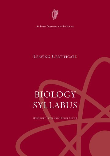 BIOLOGY SYLLABUS - Department of Education and Skills