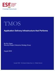 TMOS: Application delivery infrastructure that performs - F5 Networks