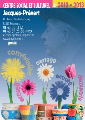 Téléchargez la plaquette du CSC Jacques-Prévert 2012 ... - Bagneux