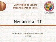 Mecánica II - Página personal de Roberto Pedro Duarte Zamorano