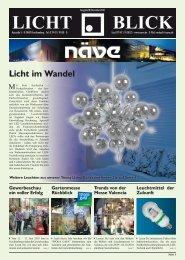Licht im Wandel LICHT BLICK - Näve Leuchten GmbH