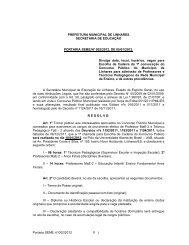 convocação para escolha de cadeira no dia 18.01.2012. - Linhares