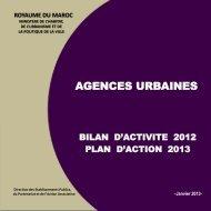 Plan d'action pour l'année 2013 - Ministère de l'Habitat, de l ...