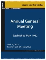 Annual General Meeting Reports - Insurance Institute of Canada