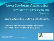 Advancing Agricultural Leadership on Sustainability