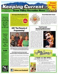 Dream! Discover! Play! - Green Valley Recreation