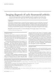 Imaging diagnosis of early rheumatoid arthritis