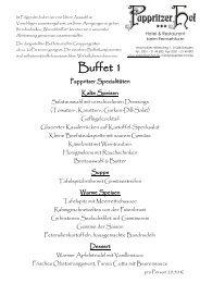 Sächsisches Buffet - Pappritzer Hof