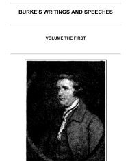 Burke's Writings and Speeches, Volume the First - Faculty of Social ...