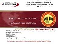 ARDEC Presentation @ 56th Annual Fuze Conference - Defense ...