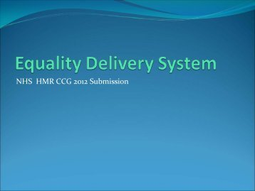 Equality Delivery System Submission 2012
