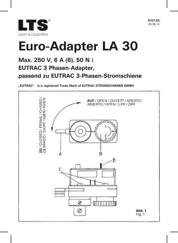 Euro-Adapter LA 30 - Solavanti Lighting