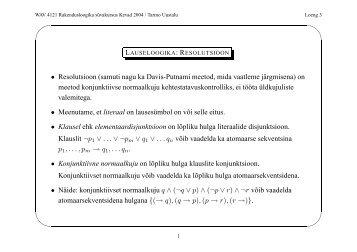 ' & $ % • Resolutsioon (samuti nagu ka Davis-Putnami meetod, mida ...