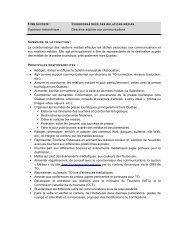 Supérieur hiérarchique : Directrice adjointe aux communications La ...