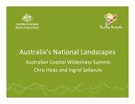 Australia's National Landscapes Presentation - Tourism Australia
