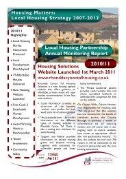End of Year Monitoring Report 2010/11 - Rhondda Cynon Taf