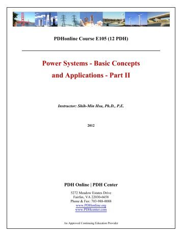 Power Systems - Basic Concepts and Applications ... - PDH Center